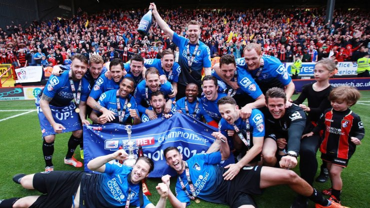 Bournemouth win the Champinonship in 2015