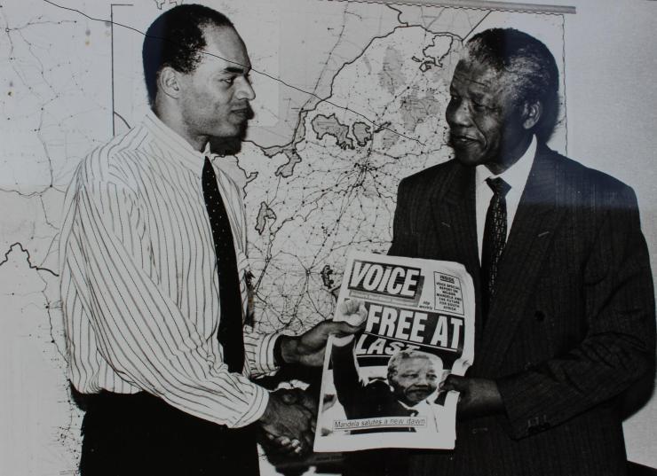 Joseph Harker with Nelson Mandela